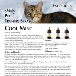Pet Training Spray - Mint