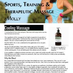 Sports Massage - Cooling Massage